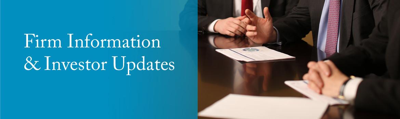 Firm Information & Investor Updates
